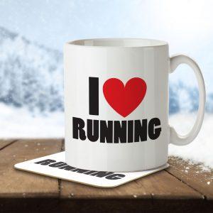 I Love Running – Mug and Coaster