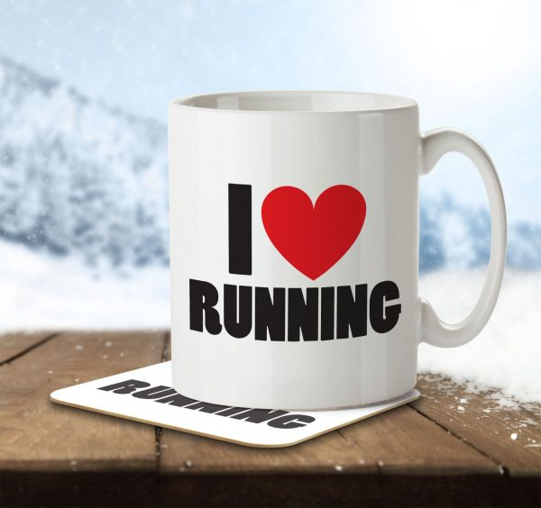 I Love Running - Mug and Coaster - MNC ILV 023 ENV