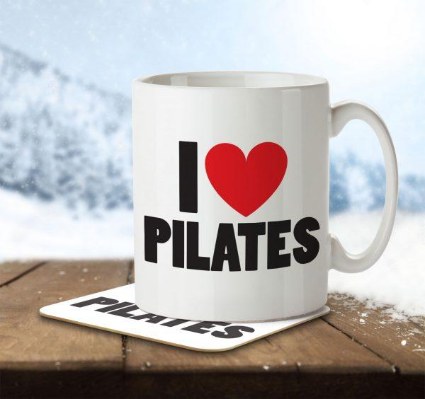 I Love Pilates - Mug and Coaster - MNC ILV 027 ENV