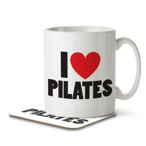 I Love Pilates – Mug and Coaster