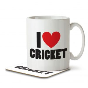 I Love Cricket – Mug and Coaster