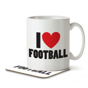 I Love Football – Mug and Coaster