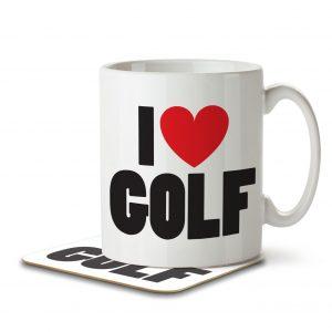 I Love Golf – Mug and Coaster