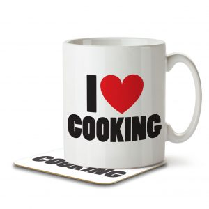 I Love Cooking – Mug and Coaster