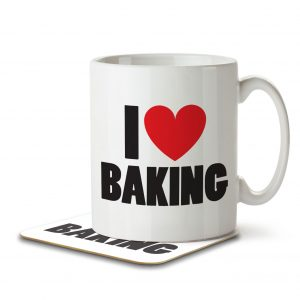 I Love Baking – Mug and Coaster