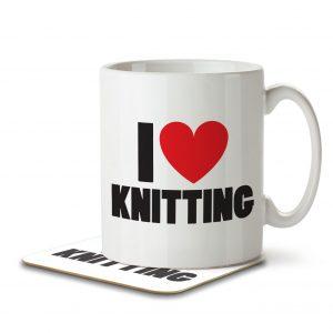 I Love Knitting – Mug and Coaster