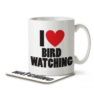 I Love Bird Watching – Mug and Coaster