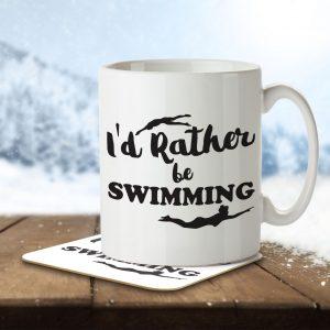 I'd Rather Be Swimming – Mug and Coaster
