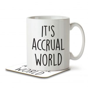 It's Accrual World – Mug and Coaster