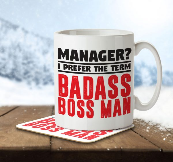 Manager? I Prefer the Term Badass Boss Man - Mug and Coaster - MNC JOB 080 ENV
