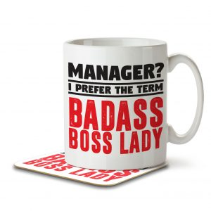 Manager? I Prefer the Term Badass Boss Lady – Mug and Coaster
