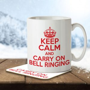 Keep Calm and Carry On Bell Ringing – Mug and Coaster