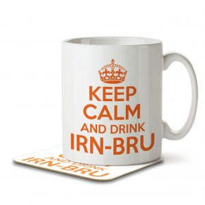 Keep Calm and Drink IRN-BRU – Mug and Coaster