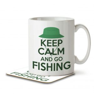 Keep Calm and Go Fishing – Mug and Coaster