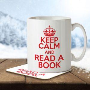 Keep Calm and Read a Book – Mug and Coaster