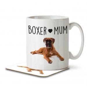 Boxer Mum – Mug and Coaster