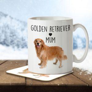 Golden Retriever Mum – Mug and Coaster
