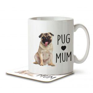 Pug Mum – Mug and Coaster
