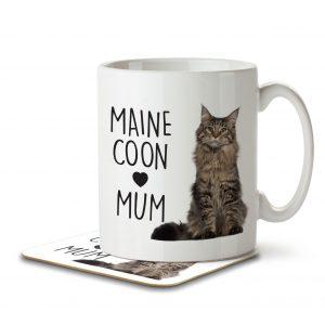 Maine Coon Mum – Mug and Coaster