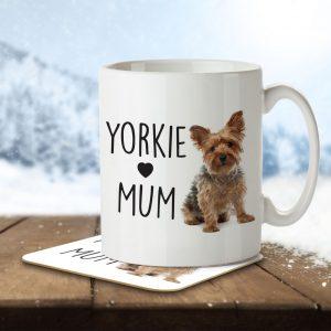 Yorkie Mum – Mug and Coaster