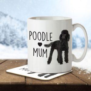 Poodle Mum – Mug and Coaster