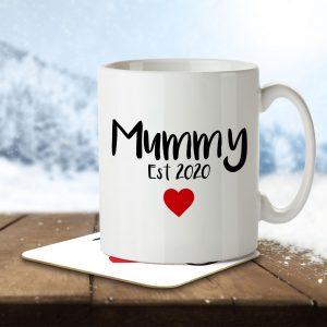 Mummy Est 2020 – Mug and Coaster