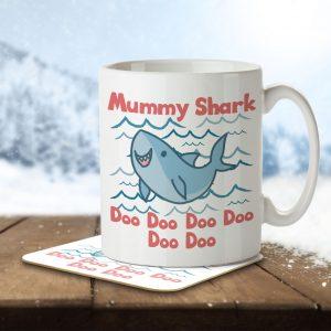 Mummy Shark – Mug and Coaster