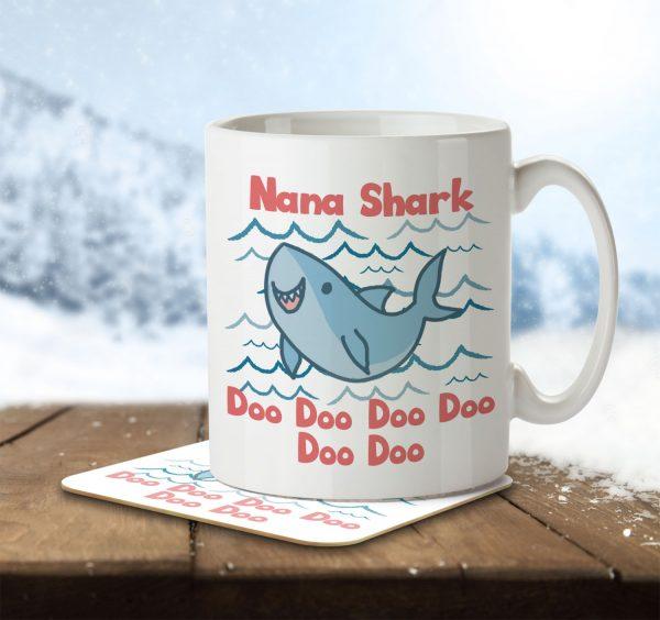 Nana Shark - Mug and Coaster - MNC MUM 073 ENV