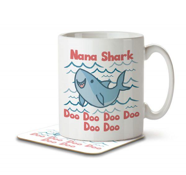 Nana Shark - Mug and Coaster - MNC MUM 073 WHITE