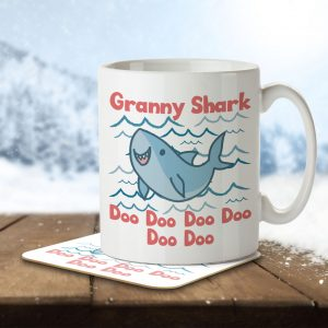 Granny Shark – Mug and Coaster