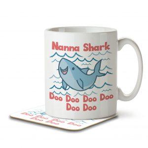 Nanna Shark – Mug and Coaster