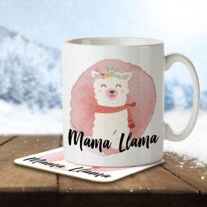 Mama Llama – Mug and Coaster