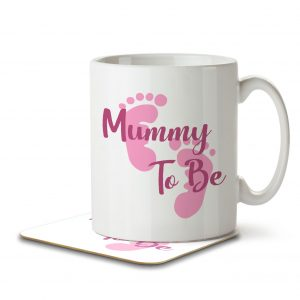 Mummy To Be – Baby Girl – Mug and Coaster