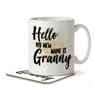 Hello My New Name is Granny – Mug and Coaster
