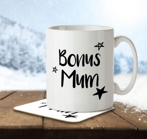 Bonus Mum - Step Mum - Mug and Coaster - MNC MUM 092 ENV