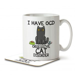 I Have OCD Cat Lover – Mug and Coaster
