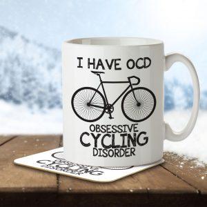 I Have OCD Cycling Lover – Mug and Coaster