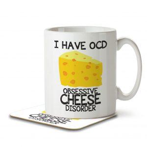 I Have OCD Cheese Lover – Mug and Coaster