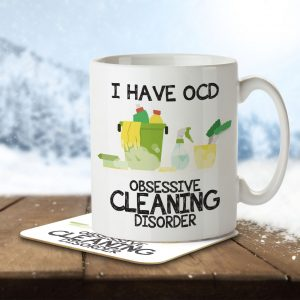 I Have OCD Cleaning Lover – Mug and Coaster