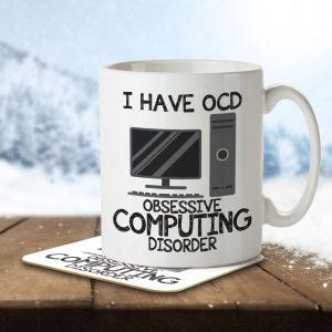 I Have OCD Computing Lover – Mug and Coaster