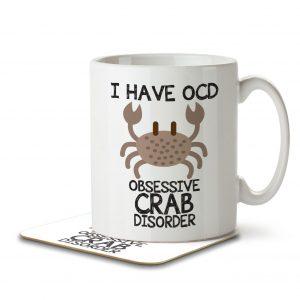 I Have OCD Crab Lover – Mug and Coaster