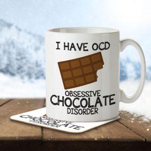 I Have OCD Chocolate Lover – Mug and Coaster