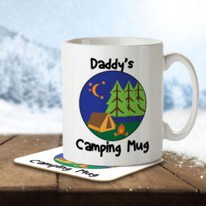 Daddy's Camping Mug – Mug and Coaster