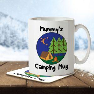 Mummy's Camping Mug – Mug and Coaster