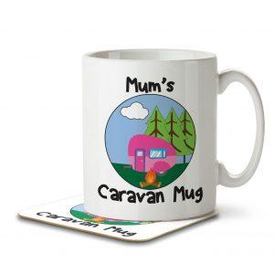 Mum's Caravan Mug – Mug and Coaster