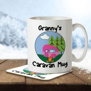 Granny's Caravan Mug – Mug and Coaster