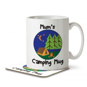 Mum's Camping Mug – Mug and Coaster