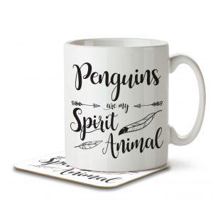 Penguins are my Spirit Animal – Mug and Coaster