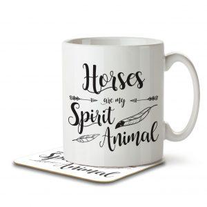 Horses are my Spirit Animal – Mug and Coaster