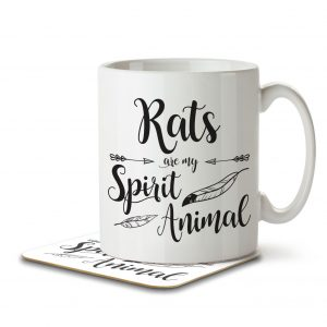 Rats are my Spirit Animal – Mug and Coaster
